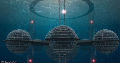 futuristic underwater city