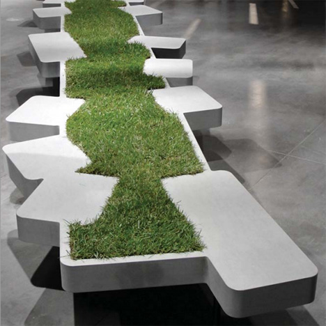 Grass-Growing Bench Injects a Little Nature into the City