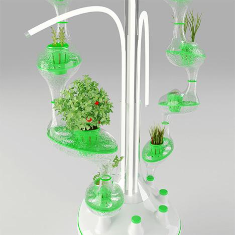 hanging plants hydroponic garden