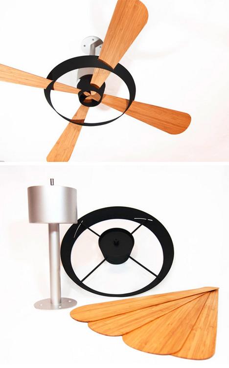 minimal bamboo fan