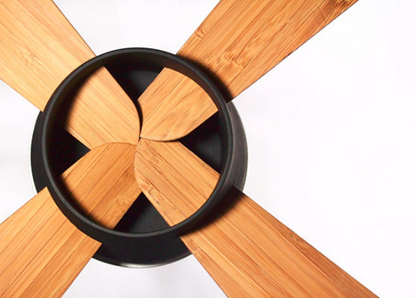Flat Pack Fan: Bamboo Design Slides Into Simple Metal Slots