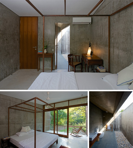 River Home: Modern Indian Residence Reaches Over Water