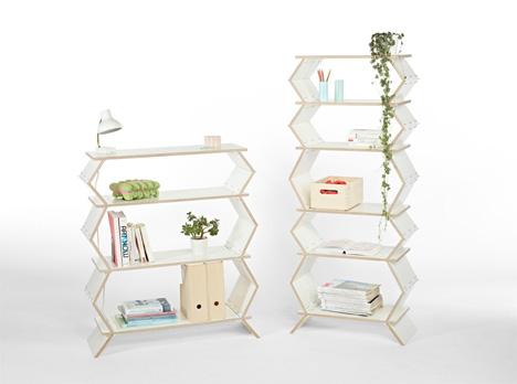 wooden stockwork shelf