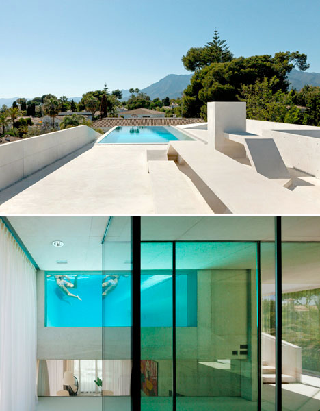 Cantilevered Pool Glass Floor 3