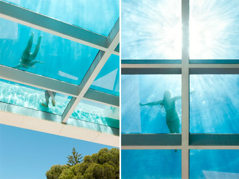 Cantilevered Pool Glass Floor 4