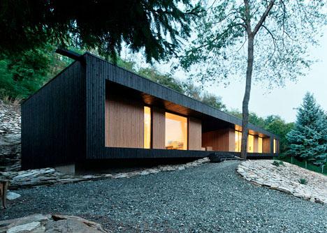 Modern Cabin in a Quarry 7