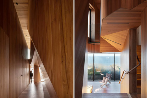 Twisting Wood LIned Beach House 4