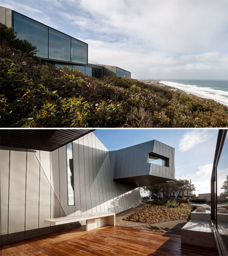 Twisting Wood Lined Beach House 2