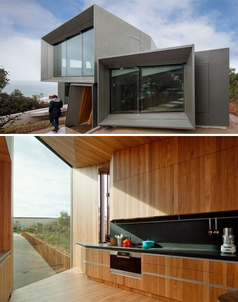 Twisting Wood Lined Beach House 3