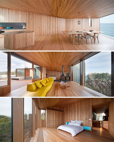 Twisting Wood Lined Beach House 5