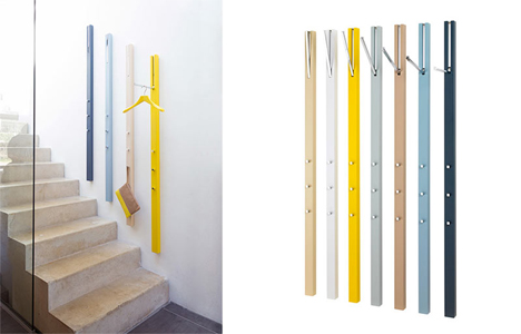 Coat Hanging Solutions vertical coat + accessory storage is functional modern art