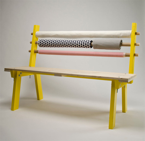 bench with interchangeable back