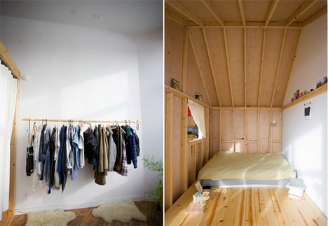 closet and bed