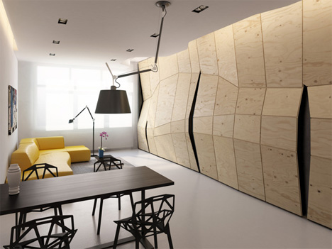 concept for wood partition wall