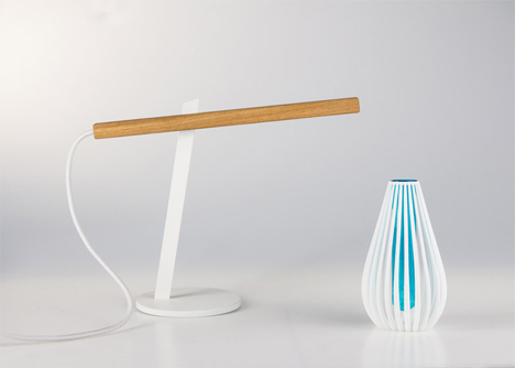 designer two-piece magnetic desk lamp