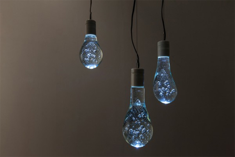 recycled glass water balloon lights