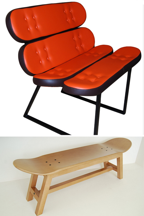 skate-home chair and stool