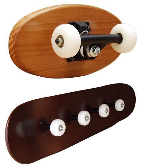 skateboard coat racks