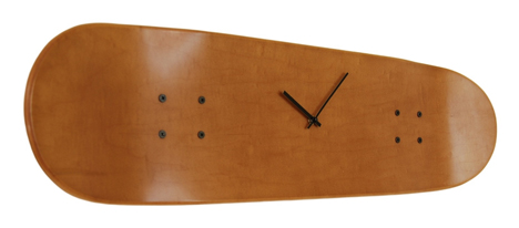 skateboard deck clock