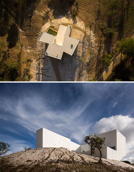 Cross Shaped Modern Hill House Looks Out Over Countryside Designs Ideas On Dornob