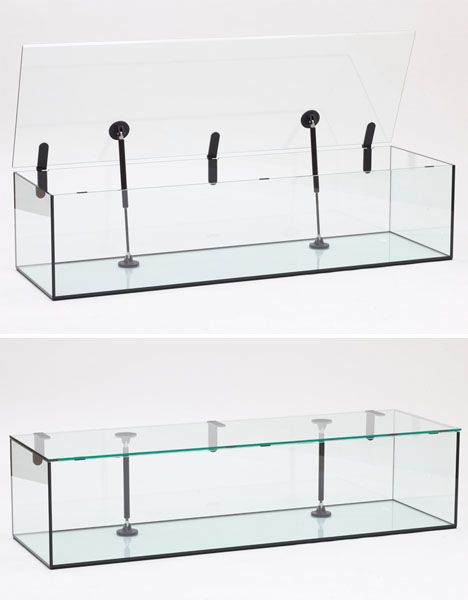Too Scared to Sit? Glass Furniture with Piston-Aided Parts