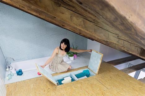 bath in-floor storage