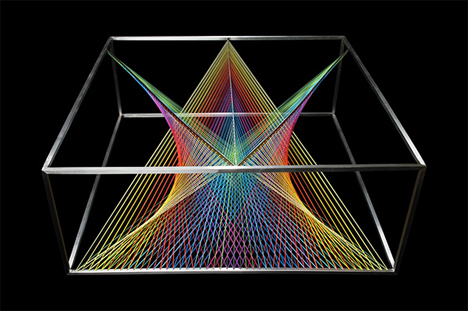 colorful lines table