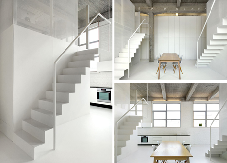 folded steel staircases