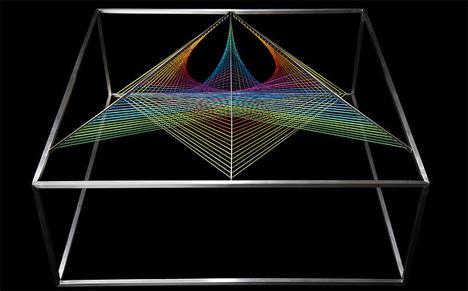 multicolored prism table