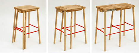 room for two expanding stool