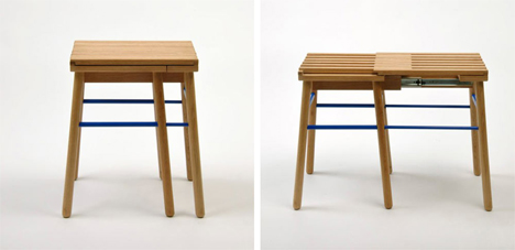 short room for two stool