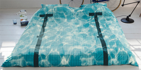 Literally Drift To Sleep In This Swimming Pool Bedding Set