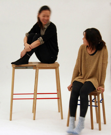 tall and short room for two stools