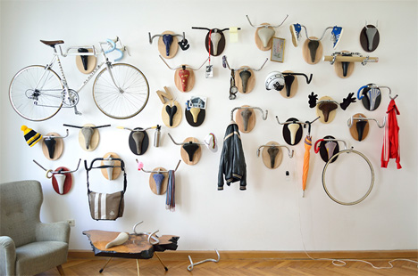 upcycle fetish wall mounted bike trophies
