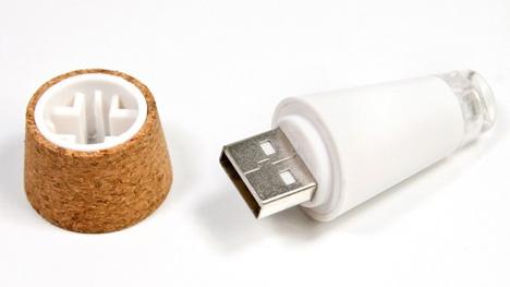 usb rechargeable cork bottle light