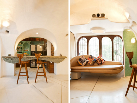 Organic Living In The City Rounded Apartment Interiors
