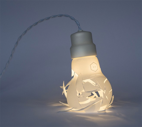 Smashed 3D printed Bulb 1