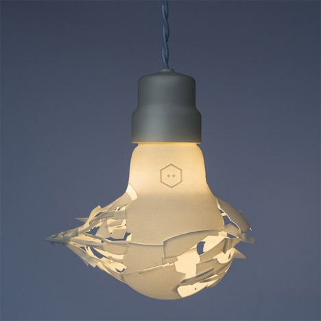 Smashed 3D printed Bulb 2