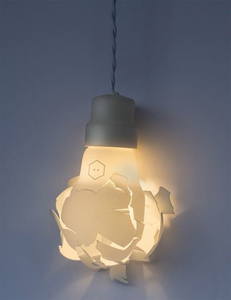 Smashed 3D printed bulb 3