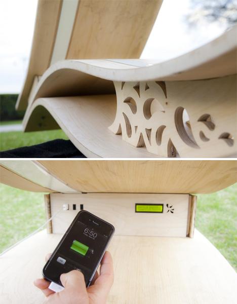 Soft Rocker: Sculptural Solar-Powered Outdoor Lounger