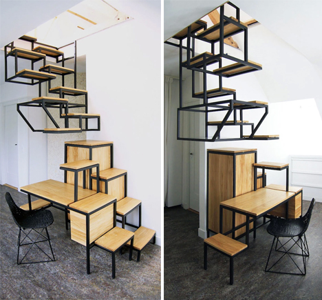 Suspended Staircase Makes Steepness Chic U0026 Comfortable