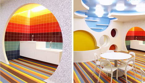 Colorful Rooms bright colors and creativity define a play space for children