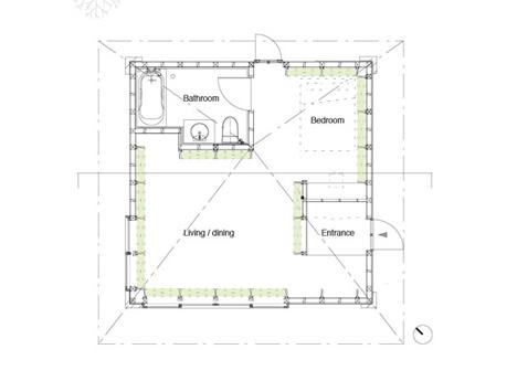 floor plan hay heated home