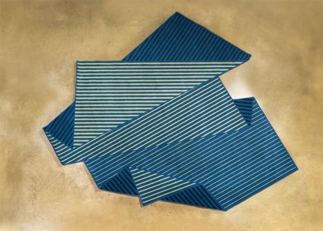 folded illusion rug