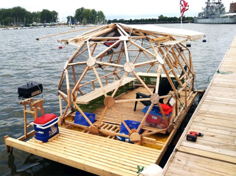 geodesic houseboat