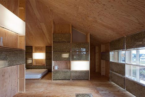 interior hay heated home