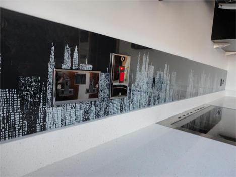 new york glass splashback
