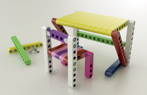 Magical Modular Kit Lets Kids Build Their Own Furniture