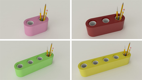 olla pieces as pencil holders