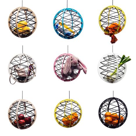 pluk hanging elastic fruit bowl